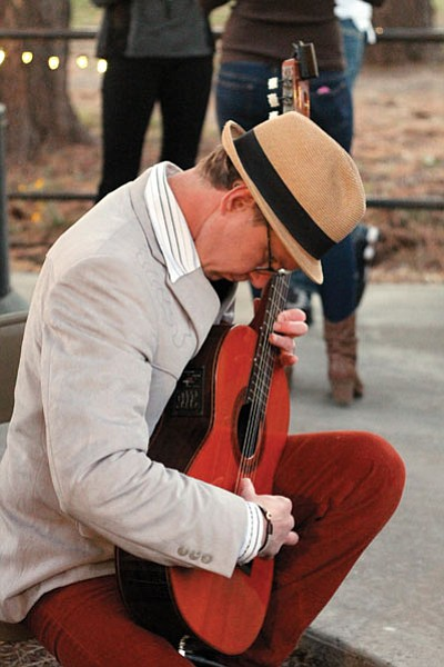 Classical guitarist Chuck Yarbrough performs during last year's Taste of Williams event. Clara Beard/WGCN