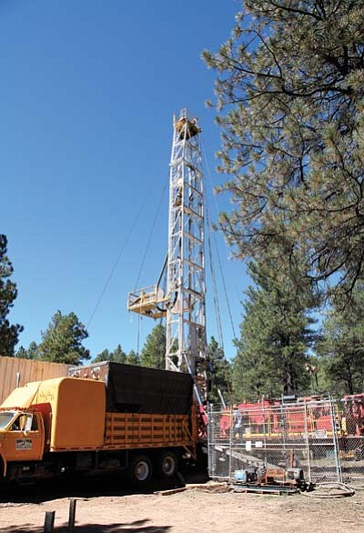 Drill Tech employees worked to salvage Dogtown 1 well last week. The Water Infrastructure Finance Authority of Arizona recently granted the city of Williams a $3.5 million loan, which could be used to drill a new well in the future.