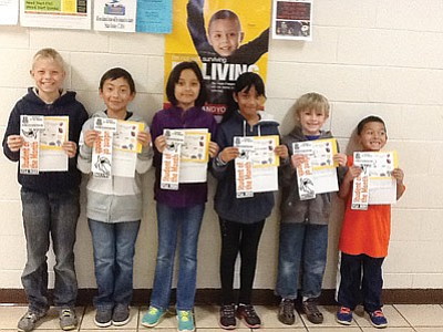 The Williams Elementary-Middle School November Students of the Month are fifth grader Slade Christiansen, fourth grader Ivan Duran, third grader Christine Salgado, second grader Deisy Ortiz-Salazar, first grader Ethan Jenks and kindergartner Johnny Romero. Submitted photo
