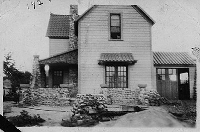 This historic photo shows the Yellow (Negrette) House in 1927. Submitted photo