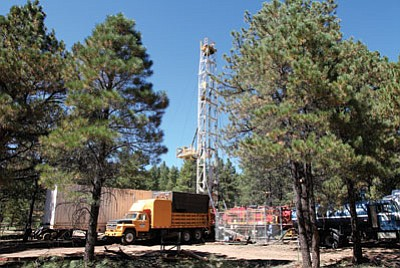 Drill Tech employees worked to salvage Dogtown 1 well in October. The city of Williams is now running out of options to revive the well. Ryan Williams/WGCN