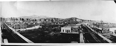 This image is from the Williams Historic Photo Project collection. It is an overview of Williams, circa 1915. Submitted photo<br /><br /><!-- 1upcrlf2 -->