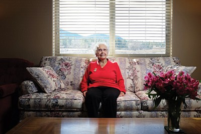 Rosa Lee Olson prepares to ring in the New Year and celebrate her centennial birthday. Ryan Williams/WGCN