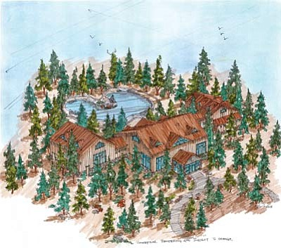 Above and below: Artist's rendering of what the new development at Bearizona will look like. Submitted photos