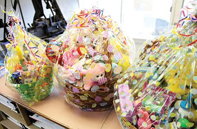 The Parents Who Care will raffle off five Easter baskets on April 1 at the Williams Senior Center to raise money for Senior Grad Night. Ryan Williams/WGCN