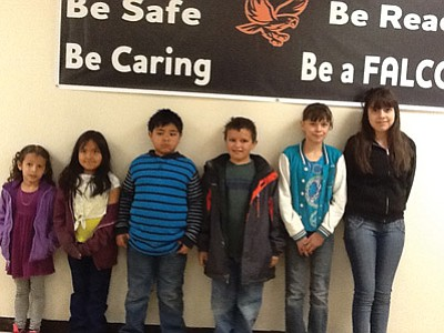 The Williams Elementary April Students of the Month: kindergartner Madilyn Dart, first grader Jayln Cooke, second grader Miguel Rocha, third grader R.J. Van Winkle, fourth grader Izabelle Adrian and fifth grader Arwen Salgado. Submitted photo