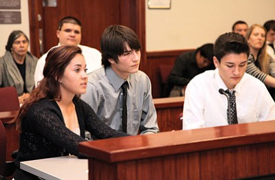 Williams High School students participate in a mock trial at last year's Law Day event. Ryan Williams/WGCN
