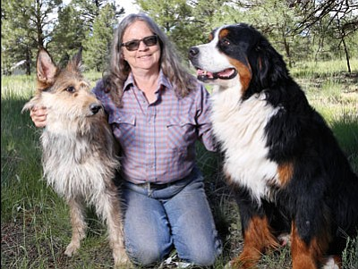 Flagstaff Kennel Club member and Parks resident Denise Dean with her Berger Picard named Amiee and Bernese Mountain Dog named Mac. Ryan Williams/WGCN