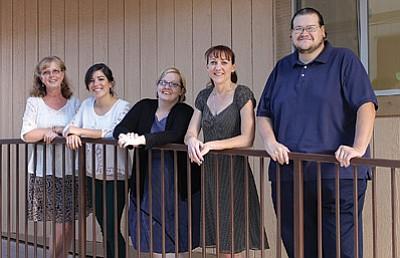 From left: Patty Lucas, Krystle Castillo, Donya Hadder, Kimberly Bennett and Roman Sanchez. Wendy Howell/WGCN