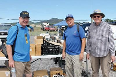 From left: HAM radio operators Ray Benny, Jim Chaney and Brian Stapleton at the 2015 ARCA/Williams Hamfest in Williams, Arizona. Wendy Howell/WGCN