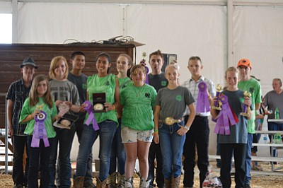 Mountaineers 4-H Club members attend the Coconino County Fair.