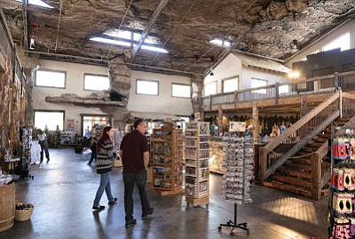 Visitors to Beaizona Wildlife Park in Williams enjoy the recently expanded gift shop. Attendance is up 30 percent over last year. Ryan Williams/WGCN