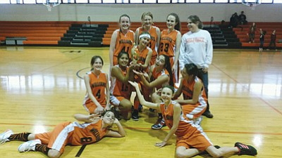 The Williams Middle School Falcons placed third in the A-team tournament Dec. 11 in Williams. Submitted photos.