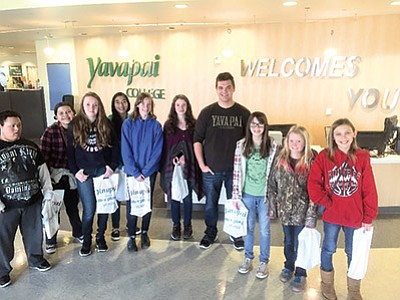 Students tour Yavapai College facilities. Photos/Williams Elementary Middle School