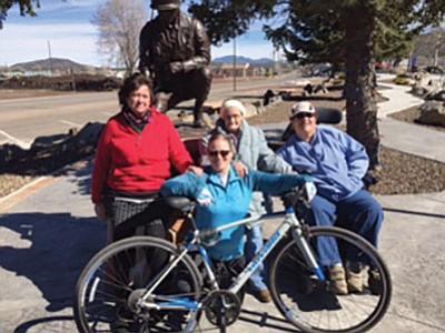 Tracy Wygal, Candace Key, Stephanie Chavez and Cheri Porter are riding to benefit MS research. Submitted photo