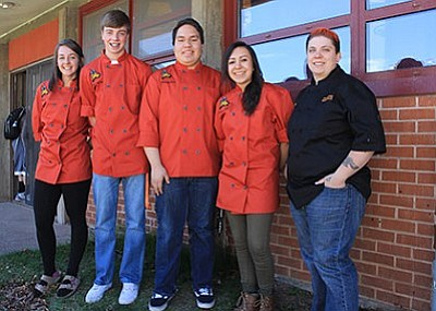 From left: Williams High School students Rheanon Koss, Braden Heap, Eric Belmontes and Gloria Gonzales attended the SkillsUSA culinary and baking competition March 29-30 in Phoenix. Wendy Howell/WGCN