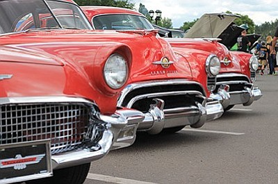 Dozens of car line the street during the the annual Cool Country Cruise-In car show August 5-7. Wendy Howell/WGCN