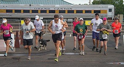 Runners take off during the 2015 Lions Club Mountain Man Run. Submitted photo