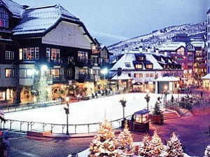 An outdoor skating rink could add charm to downtown Williams during the Mountain Village Holiday. The above photo of the Beaver Creek Village in Colorado is an example Williams organizers are showing anyone interested in bringing ³Christmastown USA² to downtown Williams.