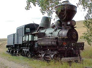 This 1923 Shay locomotive will soon be in Williams. The Arizona State Railroad Museum recently acquired the engine from Belt, Mont. The odd looking ³bucket² on top is covering the steam dome to keep water from entering the boiler.
