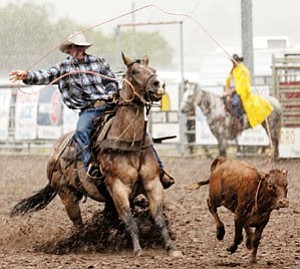 Real working cowboys show their skills at the 28th Annual Arizona Cowpunchers Reunion Association Rodeo starting tomorrow.
