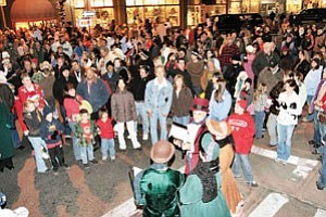 The streets of downtown Williams are packed Nov. 24 as countless individuals came out for the official tree lighting ceremony