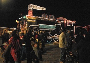 Passengers wait to board the Polar Express in December. During the 2006 Polar Express season, 71,000 passengers traveled to the North Pole.