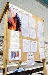 As concern mounts over fire danger, officials with the Forest Service have placed information boards at various city locations  to notify visitors about fire dangers in the Kaibab National Forest. Williams City Council will decide the fate of this year's fireworks tomorrow during their regularly scheduled meeting.
