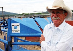 Cowboy Tad Dent said roping is something he does, not just in the Cowpuncher's Reunion Rodeo, but on the job as well.