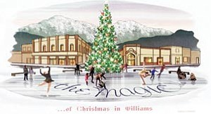 Diana Croteau unveiled the Christmas Committee's new holiday logo for the annual tree lighting to members of Williams City Council July 26.