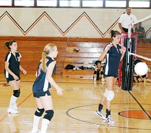 The Lady Vikes played at home against Northland Prep Aug. 21. The girls took a number of wins and losses alike in their first couple of matches for the 2007 season.