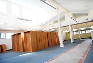 Shelves are beginning to arrive at the newly remodeled Williams Public Library, pictured above. Librarian Andrea Dunn said a grand opening will be held when work on the library is complete.