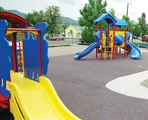 A ribbon cutting is planned today at the Tot's Park located at the corner of Sherman Avenue and Fourth Street.