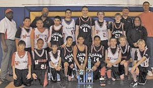 The Falcons were undefeated this year in an awesome season of basketball for Williams Elementary-Middle School.