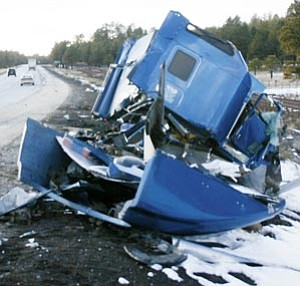 Wreckage still remains on Interstate 40 following the March 16 accident that left two dead and 50 injured.