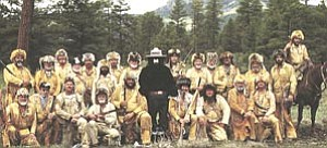 The Bill Williams Mountain Men, pictured above with Smokey the Bear, left March 29 for another expendition to Phoenix. The group will represent Williams in the annual Cave Creek Rodeo Days parade.