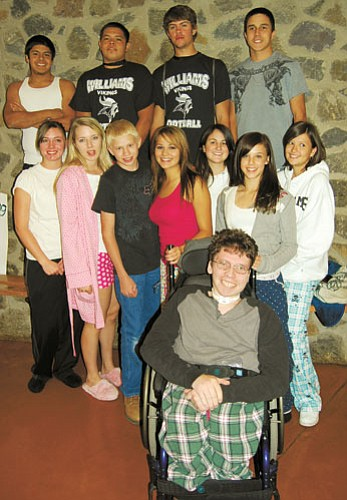 <br>Patrick Whitehurst/WGCN<br> Royalty for the 2008 Williams High School Homecoming celebration on Pajama Day.