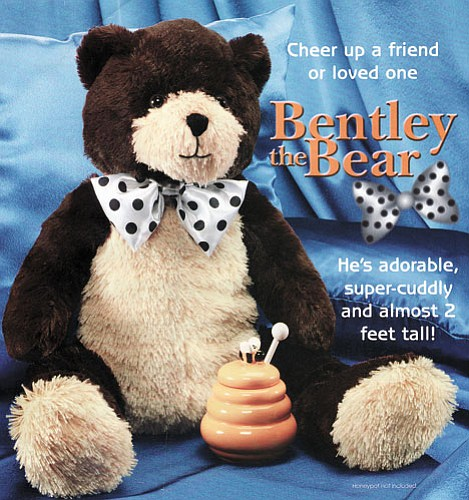 <br>Submitted photo<br> Bentley the bear will be given to children at this year's Community Holiday Dinner this Sunday.