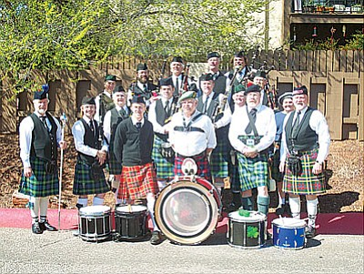 <br>Submitted photo<br> Members of the Southwest Skye Pipes and Drums during the St. Patrick's Day Red Rocks Parade in Sedona.