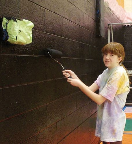 <br>Submitted photo<br> Student Council member Miranda Mann paints.