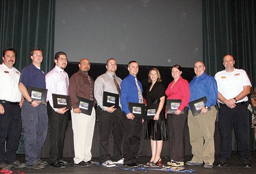 Submitted photo Life Line team members proudly display credentials they earned in April.
