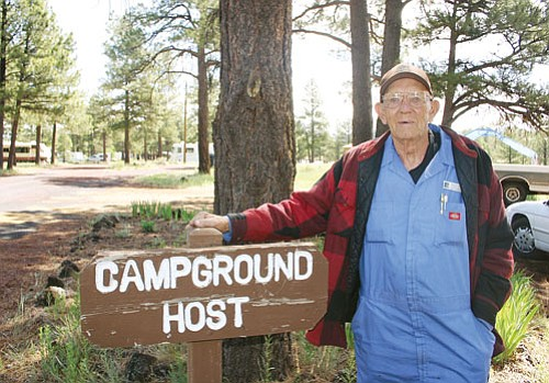 <br>Patrick Whitehurst/WGCN<br> Cataract Lake Campground Host Harold Hall has been a fixture at the Williams campground for 20 years. He said he has enjoyed his 20 years at the facility and was sad to see it close due to a tight county budget.