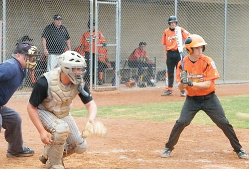 <br>Submitted by Jeanette Perkins<br> Williams Junior Coty Baxter at bat during a recent game in Prescott.