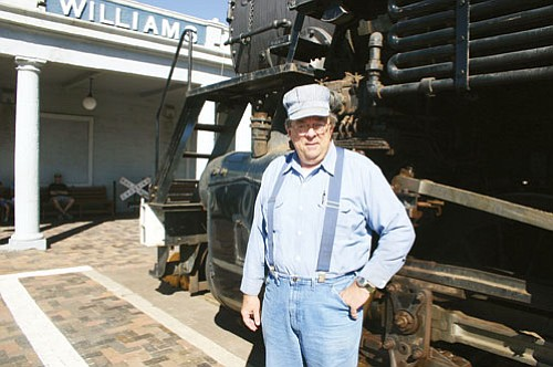 <br>Patrick Whitehurst/WGCN<br> Grand Canyon Railway's Chief Mechanical Officer Sam Lanter at the depot building in Williams. Lanter worked on adding waste vegetable oil to the 4960 engine.