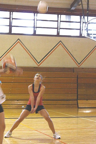 Ryan Williams/WGCN The Lady Vikings, pictured above in a recent practice, took a win against Ash Fork, in three games Aug. 25.