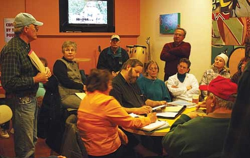 <br>Patrick Whitehurst/WGCN<br> Friends of the Williams Aquatic Center meet at American Flyer to plan a fundraising effort to re-open the pool by May.