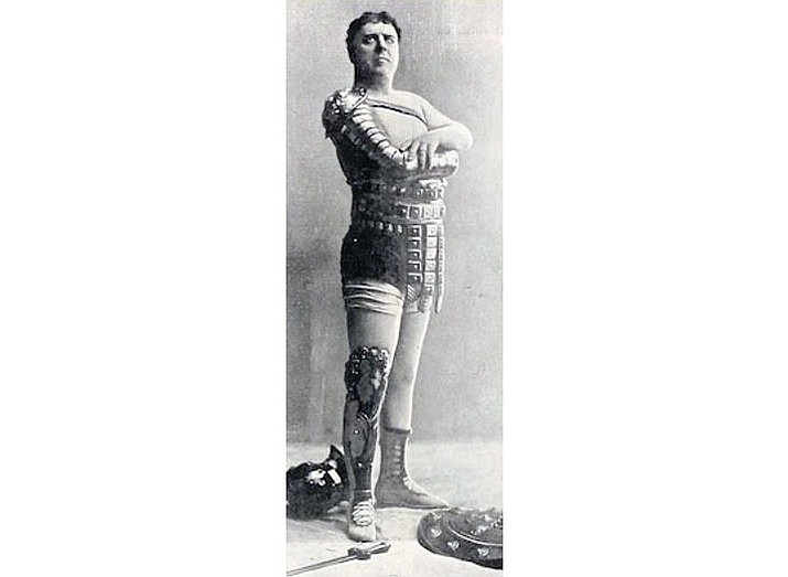 Louis James starred as Spartacus in this 1897 theatrical staging in Territorial Arizona.