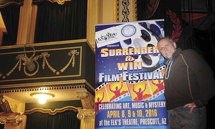 "Jeffrey Grubert is organizing the ""Surrender To Win Film Festival"" April 8-10 at The Elks Theatre in Prescott."
