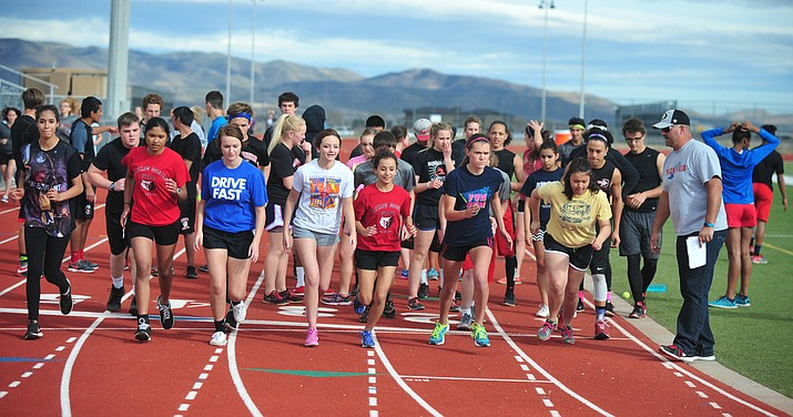 The Bradshaw Mountain High track and field team.