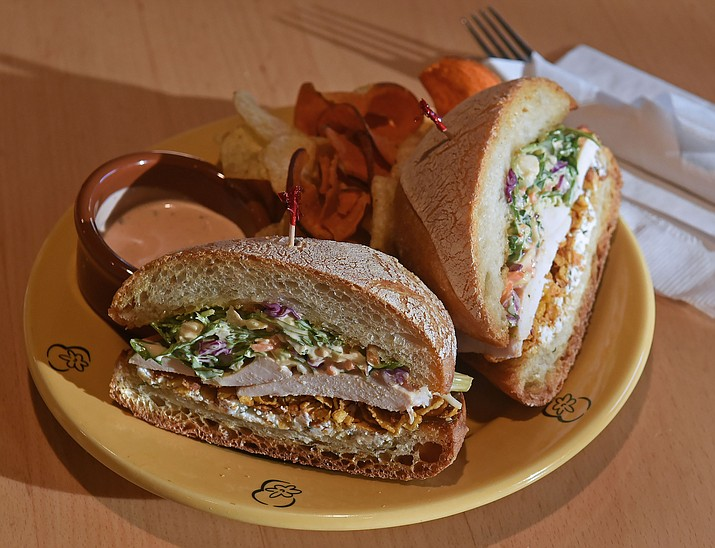 The Crispy Un-Fried Chick Sandwich available at Wildflower Bread Company in Prescott. (Matt Hinshaw/The Daily Courier)